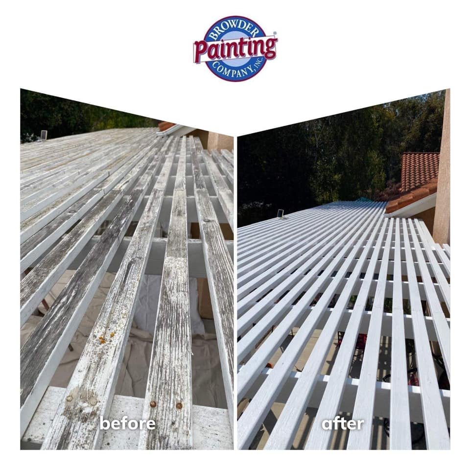 Exterior Painting Wood Trellis Patio Cover in Nipomo, CA